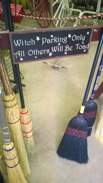 Spotted a dad joke at a place selling brooms