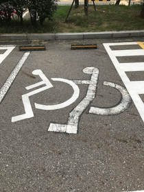 Spotted this questionable handicap parking spot in Seoul South Korea