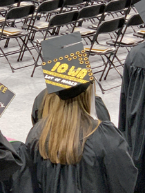 Spotted this weekend at University of Iowa graduation