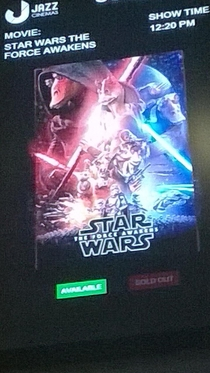 Star Wars poster at an Indian theatre
