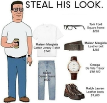 Steal his look Hank Hill