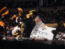 Steelers fan pulls out this sign when the camera was on him camera man quickly pulled away haha