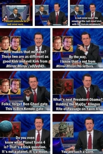 Stephen Colbert on Ben Kenobi-gate