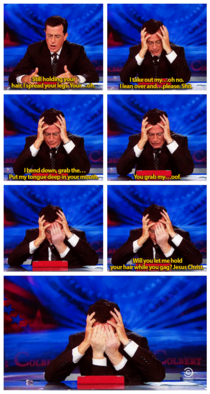 Stephen Colbert reading Anthony Weiners sext messages