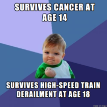 Stephen Ward survivor of the Spanish train derailment could easily have been a Bad Luck Brian