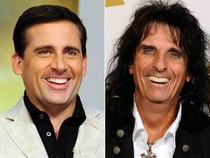 Steve Carell and Alice Cooper are the same person