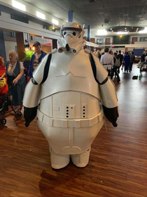 Storm trooper baymax cosplay