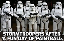 Stormtroopers after a day of paintball