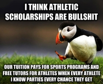 Students who actually care about their education should receive more full-ride scholarships than athletes