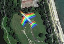 Stumbled on google maps as an airplane flies faster than the picture being taken