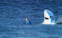 Stunning image of the Mick Fanning shark attack