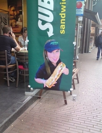 Subway uses midgets to make their sandwiches look bigger