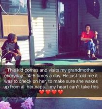 Such a sweet kid What random acts of kindness have you seen in your neighborhood