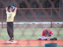 Summarizes just about every one of my nephews little league games