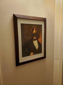 Switched out a picture of my younger sister with this fancy boy and no one has noticed for  months