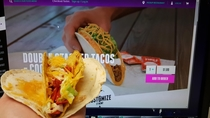 Taco Bell Double Stacked Taco