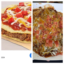 Taco Bell Mexican Pizza or What I imagine prison food to look like