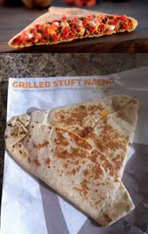 Taco Bells Grilled Stuffed Nacho I dont know why I expected better