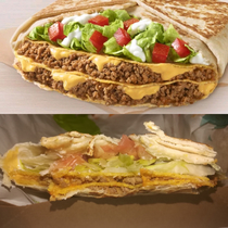 Taco Bells Triple Double Crunchwrap