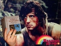 Take a look Read a book Its Reading Rambo