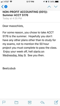 Take a summer class they said itll be easy they said