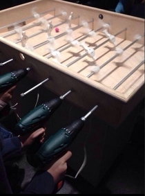 Taking foosball to the next level