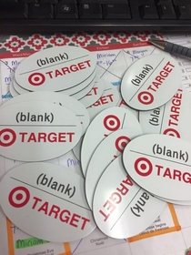 Target ordered blank name badges So they got Blank name badges