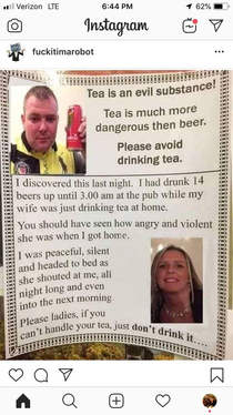 Tea is the evil drink