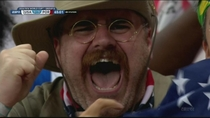 Teddy Roosevelt spotted cheering during the USA vs Portugal game