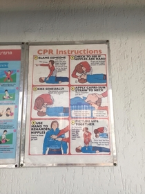 Thailand trolled again CPR Instructions next to the hotel pool They havent the slightest clue