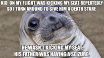 Thankfully it was at the end of the flight and a doctor rushed over to help Guy turned out okay