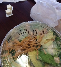 Thanks but I asked for no cucumbers