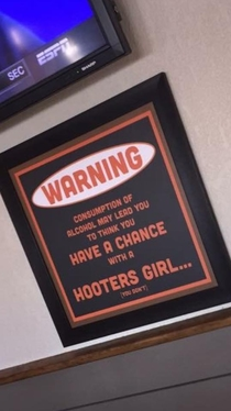Thanks for the heads up Hooters