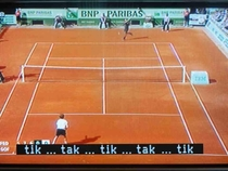 Thanks to subtitles now the hearing impaired can enjoy tennis matches just like everyone else