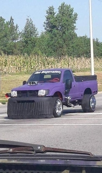 Thanos pimpin his new ride