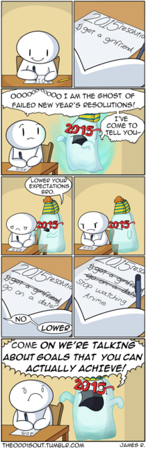 That just about sums up my resolutions
