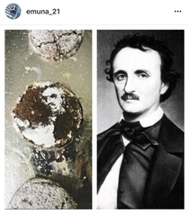 That time I accidentally baked an Edgar Allen Poe cookie