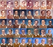 Thats Commitment -Gym Teacher Wore the Same Outfit for  Years of Yearbook Photos
