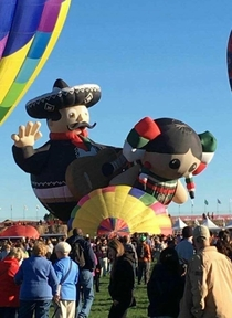 Thats one way to get the Balloon Fiesta started