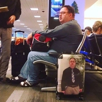 Thats one way to not lose your luggage