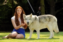 The actress who plays Sansa Stark adopted her dire wolf from the show in real life