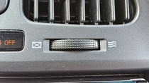 The air vents in my car have two settings Email or Bacon