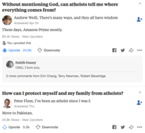 The Atheist answers on Quora are a gift that keeps on giving