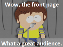 The average redditors reaction to front page glory