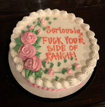 The bar I work at had a holiday potluck for the staff last night so I contributed with this cake
