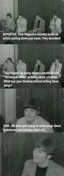The Beatles were great at dealing with stupid press questions