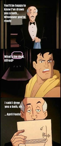 The best Alfred was the animated one