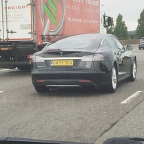 The best number plate to grace a Tesla