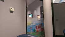 The car dealership Im at has a childrens room I looked in to see what cartoon was playing