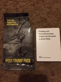 The cards against humanities people are a gift